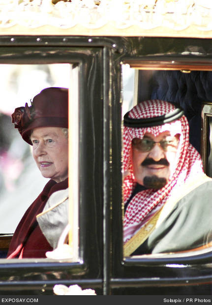 king abdullah and queen elizabeth